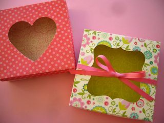 Die cut cookie boxes